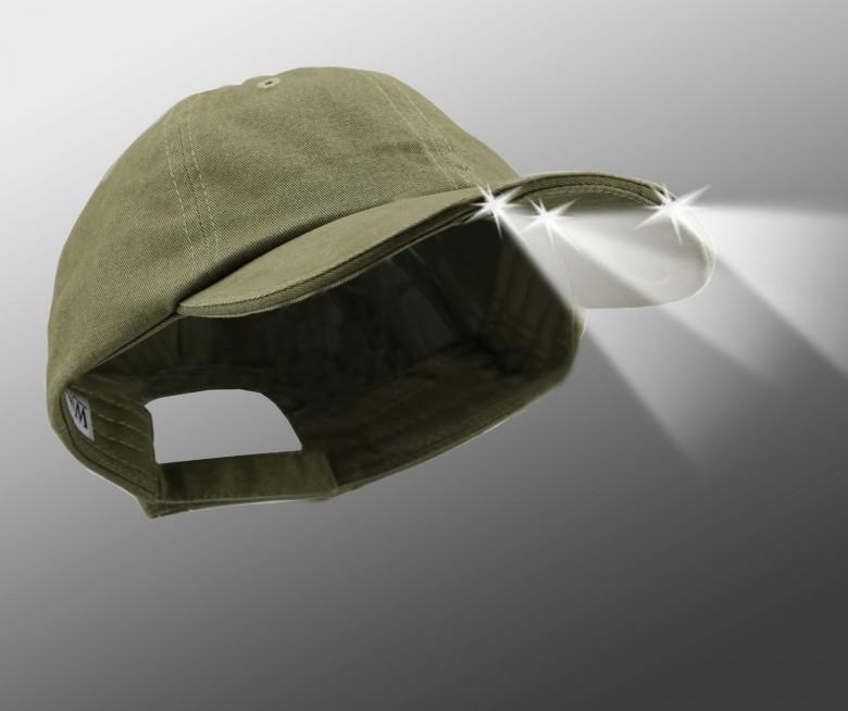4 ultra led light olive fashion cap e5b7740dc625